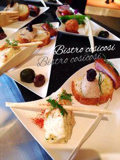 Bistro cosicosi♡ ケータリング( ¨̮͚ )パーティ  ⋈前菜3種盛り合わせプレート  #ビストロコジコジ #ケータリング