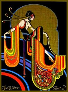 Example of Art Deco. The Art Deco aesthetic was incorporated into every aspect of modern day life from playing cards to fashion to ornamentation. Arte Art Deco, Motif Art Deco, Estilo Art Deco, Art Deco Design, Art Deco Artists, 1920s Art Deco, Art Deco Print, Design Design, Door Design
