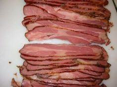 Texas Cookin' at Home: Buckboard bacon at home made with pork butt roast instead of underbelly