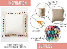 How to make my own tassel pillow