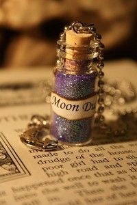 Glass Vial Necklace - Moon Dust