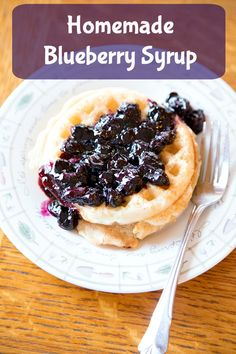 Homemade Blueberry Syrup Recipe ~ NEW recipe in our 31 Days of Breakfast Recipes Series | 5DollarDinners.com