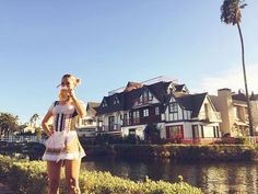 WEBSTA @ ames_dee - O K T O B E R F E S T  @k.moz #beer #beerwench #oktoberfest #germany #venice #la #canals #celebration