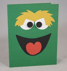 Oscar the Grouch Birthday Card or Invitation by PopperAndMimi, $4.00
