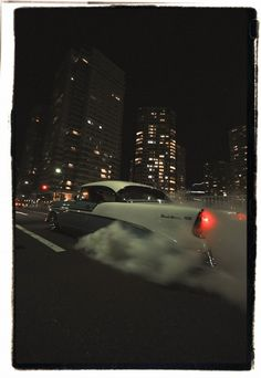 56 chevy burnout #Cars #Speed #HotRod
