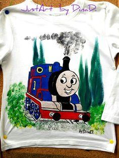 κωδικός 1195 Handpainted tshirt by DinaD