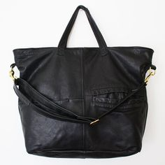 Sew a purse using your old leather jacket.