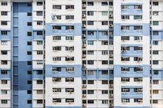 Hong Kong, China.  Photographer Alex Galmeanu, based in Bucharest, chose to make a series, entitled Walls & Windows. Artist caught the fronts of buildings and their windows from Bucharest to Si…