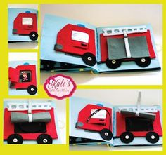 Kali's Ribbons & Bows: Vehicles Quiet Book: The Fire Truck