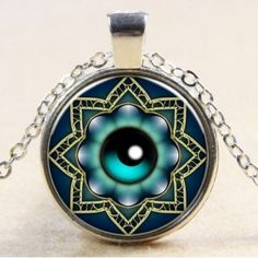 Eyeball Cabochon Necklace