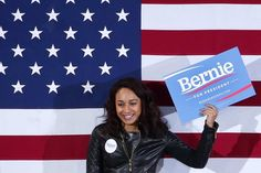 John Locher—APA woman holds up a sign at a rally for democratic presidential candidate Senator Bernie Sanders on Nov. 8, 2015, in Las Vegas.
