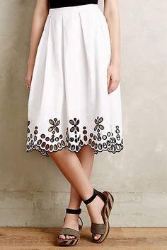 Poplin Eyelet Skirt - anthropologie.com #anthropologie #AnthroFave