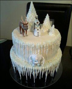 Disney's Frozen cake (love the icicles)