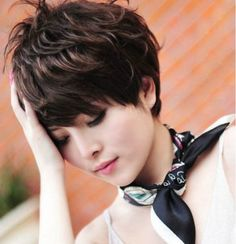 Cool2day Newest Short Fashion Women DARK BROWN Cosplay Wave Party Wig JF010423