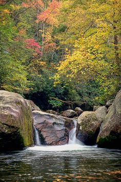 """Midnight Hole"" Featured Smoky Mountains Photo  at William Britten Photography in Gatlinburg, TN http://williambritten.com Also, follow me on facebook: http://www.facebook.com/WilliamBrittenPhotography"