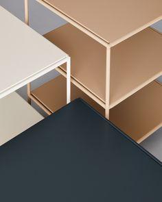 Stille Is Minimalist, Easy-to-Assemble Shelving by Standard Issue - Design Milk Interior Design Shows, Interior Design Inspiration, Solid Wood Furniture, Furniture Design, Shelf Design, Home Furnishings, Shelving, Modern Design, Nordic Design