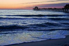 Nightfall in Naples Florida Beaches Naples Pier by DesignbyRita, $30.00