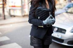 Luvas de couro para o Inverno rigoroso.