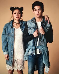 James Reid and Nadine Lustre Mega Fashion, Korean Fashion, Fashion Ideas, Nadine Lustre Fashion, James Reid Wallpaper, Filipino Baby, Celebs, Celebrities, Best Couple