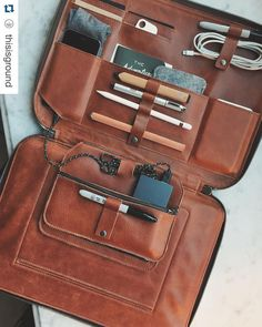 "#Repost @thisisground  The mobile office at @thecavaliersf / Mod Laptop cognac 15"" also available in 11 12 and 13 inch - still 20% off with code tig20 until midnight. @tigmodlaptop #tigmodlaptop #tigmod #laptopcase #tiledit  www.thetileapp.com"