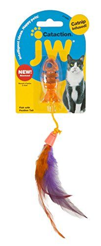 JW Cataction Fish with Tail Toy Multicolor -- Find out more about the great product at the image link.(This is an Amazon affiliate link and I receive a commission for the sales)