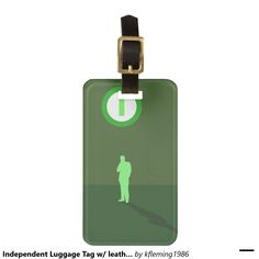 Independent Luggage Tag w/ leather strap