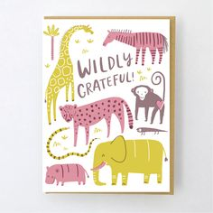 letterpress greeting card designed by Hello! Printed by Egg Press in Portland, Or. Thanks Greetings, Grateful, Thankful, Postcard Design, Letterpress Printing, Cute Cards, Diy Crafts For Kids, Thank You Cards, Character Design