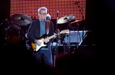 """Eric Clapton, center, performs during his """"70th Birthday Celebration"""" concert at Madison Square Garden on Friday, May 1, 2015, in New York. (Luiz C. Ribeiro/Invision/AP) ORG XMIT: NYLR103 Photo: Luiz C. Ribeiro / Invision"""
