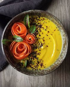 Lentil, Butternut Squash And Sunchoke Soup With Carrot Roses And Black Sesame Seeds via @feedfeed on https://thefeedfeed.com/conscious_cooking/lentil-butternut-squash-and-sunchoke-soup-with-carrot-roses-and-black-sesame-seeds