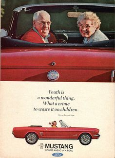 "Baby Boomer Mustang - ""Youth is a wonderful thing. What a shame to waste it on children."""