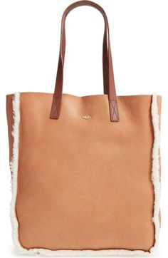 UGG® Claire Genuine Shearling Tote available at #Nordstrom