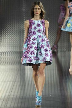 #LFW - Runway: Mary #Katrantzou Spring 2014 Ready-to-Wear Collection