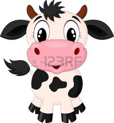 Cute cow cartoon  photo
