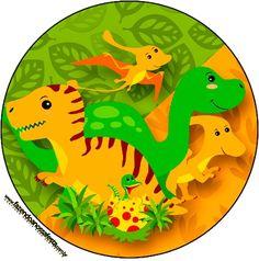 Etiquetas Stickers Dinosaurios