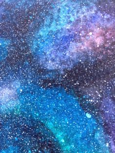 Learn how to make an amazing galaxy watercolor technique. It's easier than you think!