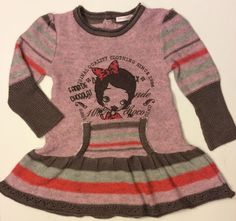 Girls 3 Deux Par Deux Pink Fall Winter Sweater Dress European Knit Chocolat EUC #DeuxParDeux #HolidayEverydayDressy