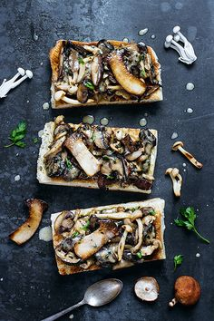 Mushroom Toast with Buttermilk Crème Fraîche - Evan Kalman