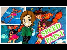 Casinolandia: SPEEDPAINT witch, freehand design