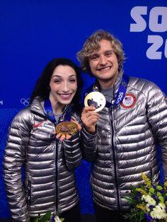 Meryl Davis, Charlie White. Ice dancing gold medalists. via @U.S. Figure Skating on twitter