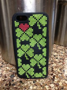 iPhone 5 Cross Stitched Phone Case on Etsy, $15.00