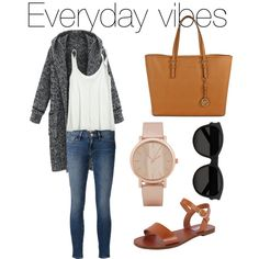 Everyday vibes by mafergambo on Polyvore featuring polyvore, fashion, style, Calypso St. Barth, Frame Denim, Steve Madden, Michael Kors, ALDO and Yves Saint Laurent