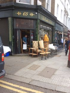 Interesting shop on Golborne Road London Places, West London, Patio, Outdoor Decor, Shop, Home Decor, Homemade Home Decor, Yard, Porch