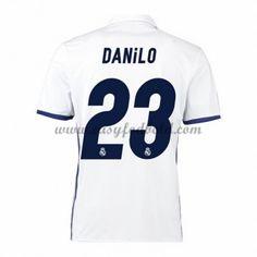 Fodboldtrøjer La Liga Real Madrid 2016-17 Danilo 23 Hjemmetrøje