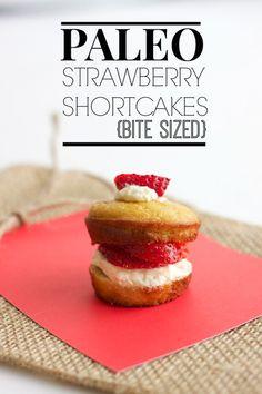 Paleo Strawberry Shortcakes (Bite Sized)