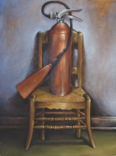 Mauricio Parra - Chair with fire extinguisher