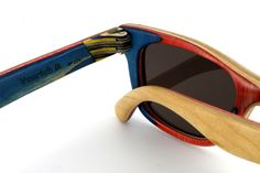These custom made sunglasses from Spain's Vuerich B. are made out of recycled skate decks. They're cool and eco-friendly!