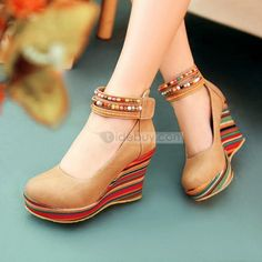 Lovely PU Round-toe Stiletto Heels Apricot Prom Shoes/Evening Shoes