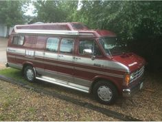 1987 Dodge Conversion Van extended with high top.