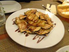 Eggplants with sugar cane honey @ Restaurant LOLA - Spanish Tapas