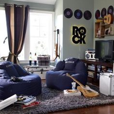 Decoração-quarto-rock-menino-azul